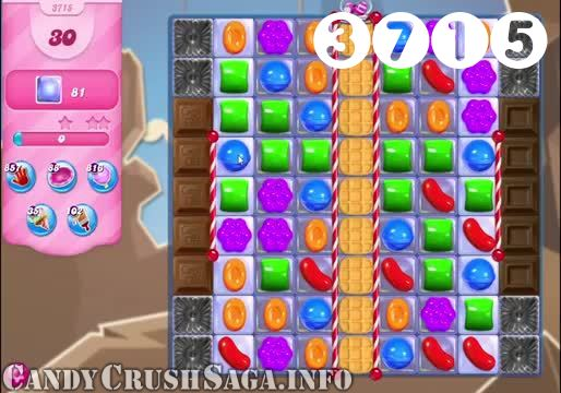 Candy Crush Saga : Level 3715 – Videos, Cheats, Tips and Tricks